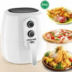 2018 Professional Air Fryer XL 5 Liter, Quart, Extra Large Capacity 1800 Watt Hot Airfryer cooker, Dry Fryer Oven Pot, No Oil frying Healthy. Healthy Meals To Cook, No Cook Meals, Healthy Cooking, Easy Cooking, Cooking Time, Dry Fryer, Air Fryer Deals, Air Fryer Review, Best Air Fryers