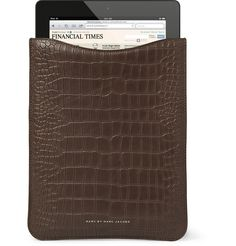 Marc by Marc Jacobs Crocodile-Embossed Leather iPad Sleeve | MR PORTER