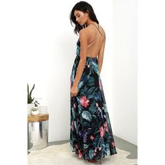 Floral Print Maxi Dress Stunning backless with slits bought on Lulus Lulu's Dresses