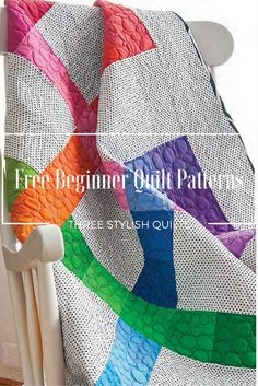 These free quilt patterns are beginner friendly and make quilting fun! Not only are they stylish, but they're a great way to learn how to quilt. You'll get a bonus Basic Lessons section to help answer all your quilting questions, too!