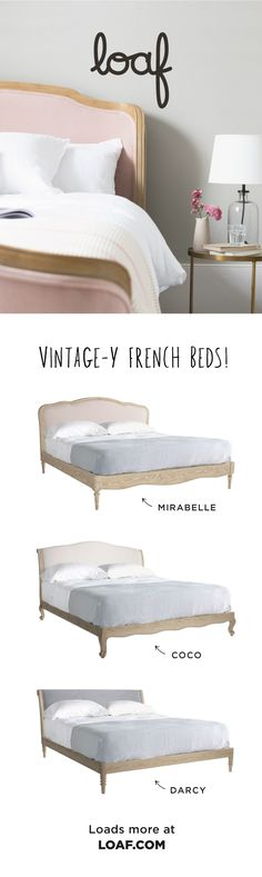 Vintage-y French beds! Our handmade homage to life in the slow lane. Bedroom Furniture, Bedroom Decor, Bedroom Inspo, French Bed, Living Room Decor Cozy, Guest Room Office, Master Bedroom Makeover, Room Planning, Guest Bedrooms