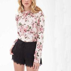Encontre mais Blusas Informações sobre Mulheres blusas florais do vintage blusa…