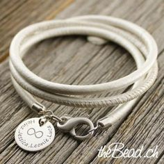 Lederarmband mit Silber - Gravur Anhänger Bracelets, Leather, Jewelry, Fashion, Chain, Silver, Schmuck, Moda, Jewels