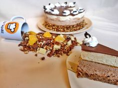 Somlói revolúció (2014-es országtorta) Cake Cookies, Tiramisu, Mousse, Ethnic Recipes, Food, Kuchen, Essen, Meals, Tiramisu Cake