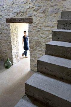 carrelage pierre claire avec moellons