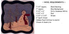 Primitive Wool Applique Patterns Free | Jack Frost Pattern