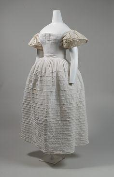 American cotton petticoat 1830's