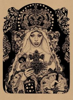 It reminds me of the Papess or the more well known title the High Priestess. Awesome:)