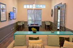 Come check out Whispering Pines Ranch resident lounge with game tables