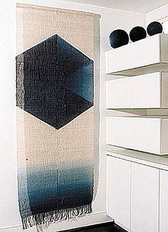 Hiroyuki Shindo linen, handspun and handwoven, indigo dye