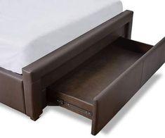 Lukko Storage Bed - Scandinavian Designs Built In Storage, Bed Storage, Bed Designs With Storage, Long Shelf, Storage Cabinets, Scandinavian Design, Drawers, Shelves, Bedroom