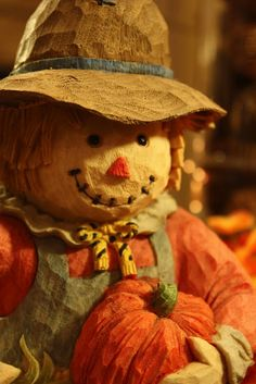 Sweet Something Designs: Tablescape Thursday. Yeah bring a scarecrow inside it gets pretty cool at night.