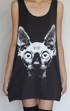 Sphynx Cat Tank Top Shirts Women Shirts Vest by LookLikeLoveSHOP, $16.00