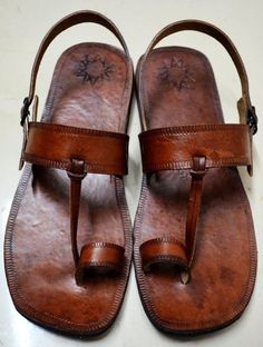 Nice leather hand made leather sandals