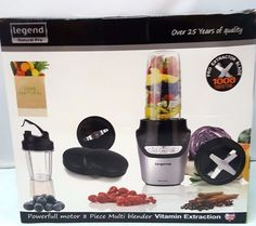 8pcs Smoothie NUTRI Blender Grind Chop 1000w Pulse Low High 15 page Recipe Book #LEGEND