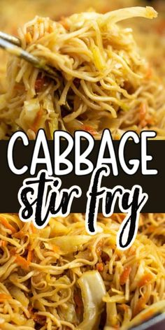 Ramen noodle cabbage stir fry recipe. Top with sweet chili sauce! My family absolutely loves this recipe! Ramen Recipes, Stir Fry Recipes, Vegetarian Recipes, Dinner Recipes, Cooking Recipes, Healthy Recipes, Recipes With Pasta Noodles, Rice Noodle Recipes, Asian Noodle Recipes