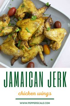 Jamaican jerk seasoning is one of the more unique spice rack mixes – equal parts spicy, earthy, and aromatic with an undeniable warmth brought on by the cloves, cinnamon, and allspice in the mix. #jamaicanjerkchickenwings #jamaicanjerkchickenwingsrecipe #jamaicanjerkwingsrecipe Spicy Recipes, Easy Chicken Recipes, Healthy Dinner Recipes, Turkey Recipes, Jerk Chicken Wings, Spicy Steak, Jamaican Jerk Seasoning, Homemade Seasonings, Wing Recipes