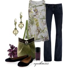 Vintage Shell Top, created by cynthia335 on Polyvore