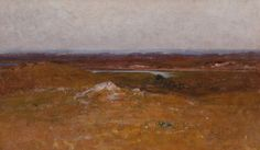 """""""Menemsha Bight,"""" Robert Swain Gifford, oil on canvas, 15 x 24-1/2"""", private collection."""