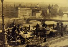Prague - View from Letna Park around 1900 Prague Photos, Park Around, History Photos, Central Europe, Yesterday And Today, Street Photo, Old Pictures, Czech Republic, Time Travel