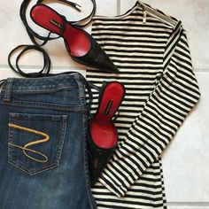 SUPER SALEAnn Taylor LOFT Top Beautiful 100% Cotton Ann Taylor Loft boatneck long sleeve. Cute blk n crm stripe. IN STYLE NOW...gr8 for layering, or w/ jeans. Cute detail zip at shoulder. Worn once, excellent condition, and perfect addition to update ur wardrobe LOFT Tops