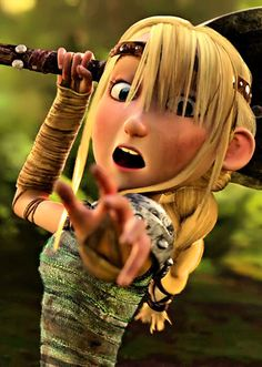 Love this shot. I love how Dreamworks took the time to add dirt to her face and clothes.