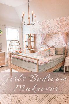 Girls Room Makeover Boys Bedroom Decor, Bedroom Wall, Girls Bedroom, Bedroom Ideas, Bedroom Inspiration, Bedrooms, Design Inspiration, Kids Room Paint, Kids Rooms