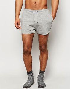 ASOS Loungewear Jersey Runner Shorts In Super Short Length