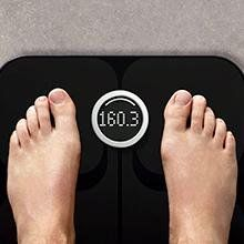 The Fitbit Aria WiFi Smart Scale uses advanced technology to track weight, lean mass, body fat percentage, and body mass index, allowing you to see all the numbers you need to start living a healthier lifestyle. With room for the storage of up to eight users, this scale recognizes who you are, displays your data, and sends your stats straight to your Fitbit account through your home's WiFi while remaining totally private to you..More http://amz