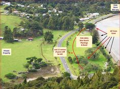 What Auckland Council plans to do at Huia Domain. 2015. No sea wall maintenance may mean no Domain in the future! It's called 'managed retreat'.