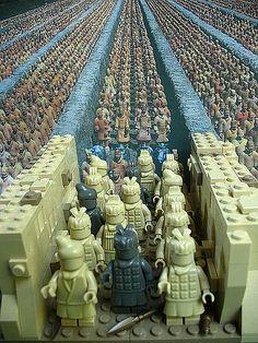 Terracotta Army - LEGO Style by akunthita on Flickr / Thita on theBrickBuilder.com | Custom Terracotta Warrior LEGO Minifigs