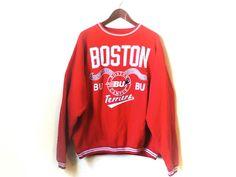 Vintage Boston University Boston Terriers jumper sweatshirt by streetstyler on Etsy https://www.etsy.com/listing/554313041/vintage-boston-university-boston