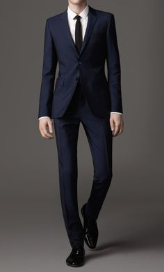 Slim fit mohair/wool suit by Burberry, London
