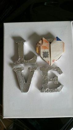 Love Keilrahmen Geschenk