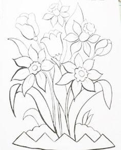 pintura-em-tecido risco tulipa