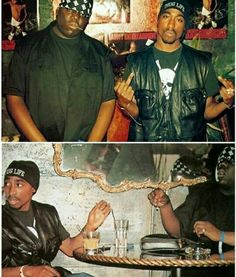 Tupac Shakur and Biggie Smalls.