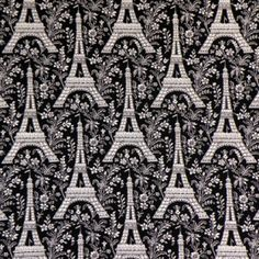 Black And Pale Ivory Eiffel Tower