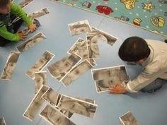 Puzzel van de gezichten uit de klas, ook een puzzel van de juf is belangrijk!