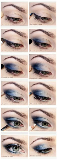 16 Graduation Makeup Tutorials You Can Wear with Confidence, 16 Commencement Make-up Tutorials You Can Put on with Confidence Do Blue Smokey Eyes Make Up Tutorials, Makeup Tutorial For Beginners, Beauty Tutorials, Beginner Makeup, Easy Make Up Ideas, Make Up Ideas Step By Step, Contouring For Beginners, Easy Diy, Makeup Tutorial Step By Step