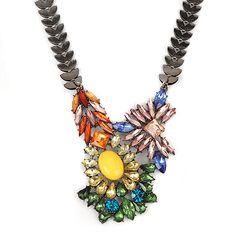 Elegant multicolor diamond decorated irregular design alloy #Fashion #Necklaces   www.asujewelry.com