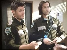 Sam and Dean in uniform