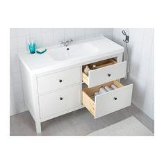 HEMNES / ODENSVIK Skab til vask med 4 skuffer - hvid - IKEA
