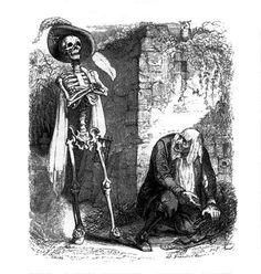 fable de la fontaine - illustration grandville - la mort et le malheureux.jpg 455 × 480 pixlar
