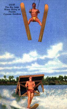The Big Jump! Water skiing at Florida's Cypress Gardens. | Florida Memory