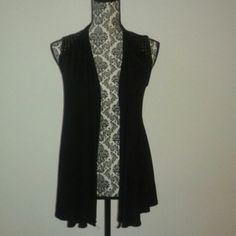 Ginger G Black Cotton Vest Very soft vest with detailed  studs on shoulder. gin  Ginger G  Tops Tunics