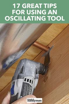 An oscillating saw is a tool you shouldn't be without. The oscillation is very slight and very fast, so it feels more like vibration. Diy Tools, Hand Tools, Sawhorse Plans, Basin Wrench, Oscillating Tool, Saw Tool, Tools Hardware, Hobby Room, Diy Projects