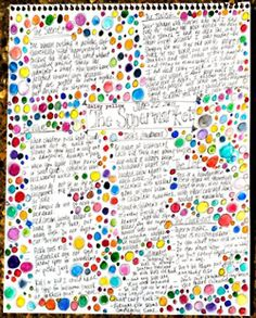 Journal idea - random thoughts, paired with random happy colored bubbles! Art Journal Pages, Art Journals, Visual Journals, Artist Journal, Journal Prompts, Altered Books, Altered Art, Collage, Colored Bubbles