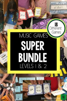 Are you a music teacher looking for FUN music education games? This music theory games SUPER bundle Music Theory Games, Music Theory Worksheets, Music Games, Rhythm Games, Fun Music, Music Sub Plans, Music Lesson Plans, Music Lessons, Piano Lessons
