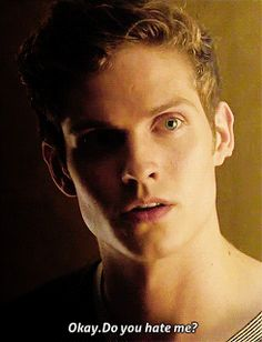 """""""No,"""" Abby shook her head slowly, looking up at Alister from where she was tied and taking a deep breath in. """"Because then I'd be no better than you. Teen Wolf Boys, Teen Wolf Dylan, Dylan O'brien, Daniel Sharman, Character Inspiration, Writing Inspiration, Light Hair, Beautiful Boys, Beauty And The Beast"""