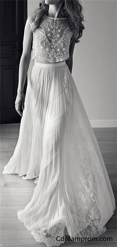 Popular, Chiffon wedding dress, Simple Style